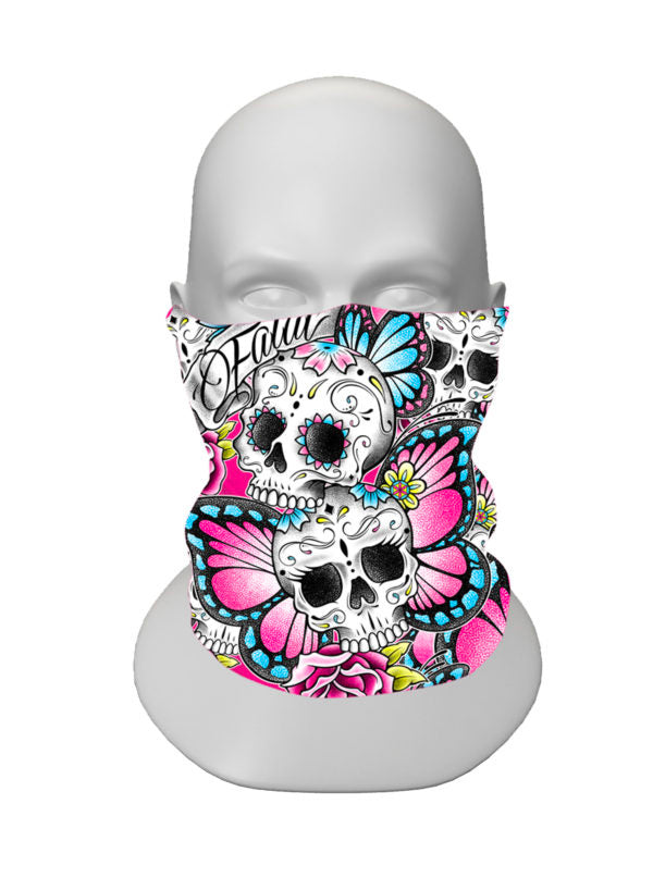 Butterfly Baby Face Tube Mask by Fatal Clothing