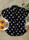 "Unisex ""No Problemo"" Button-Up by Pyknic (Black)"