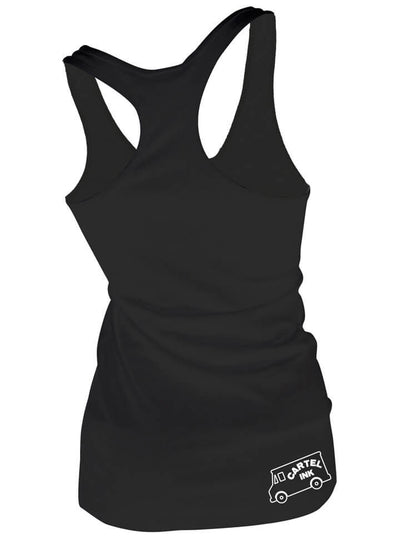"Women's ""I Like Big Butts and Taco Trucks"" Racerback Tank by Cartel Ink (Black) - www.inkedshop.com"