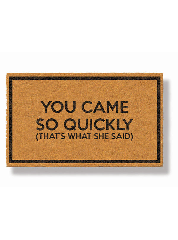 Premature Welcome Doormat by Funny Welcome
