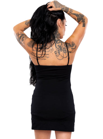 Women's Skeleton Caged Cami Tank Dress by Pretty Attitude Clothing