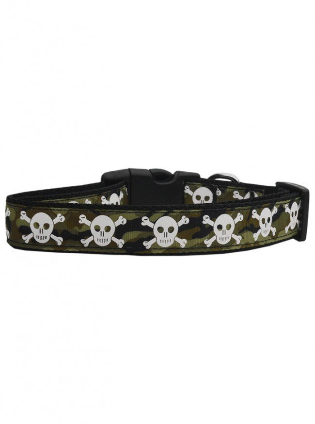 """Skulls"" Nylon Collar by Mirage Pet Products (Camo) - www.inkedshop.com"