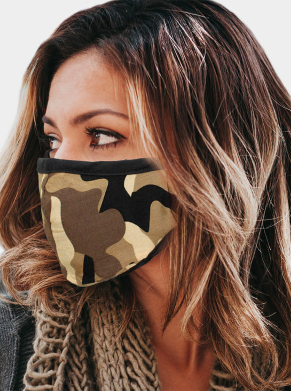 Camouflage 2 Layer Face Mask