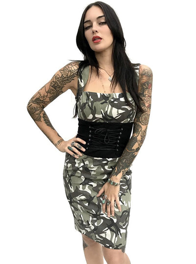 Women's Camo Cincher Dress by Switchblade Stiletto