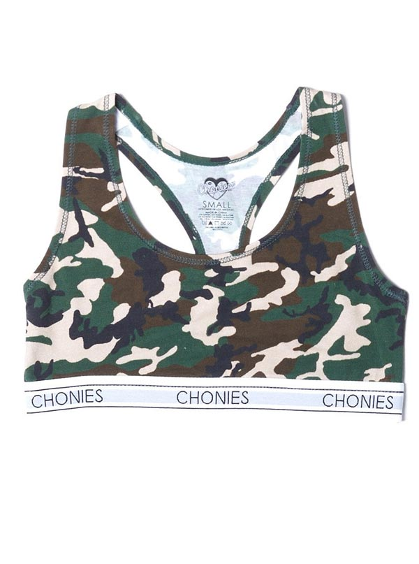 Women's Camo Sports Bra by Chonies