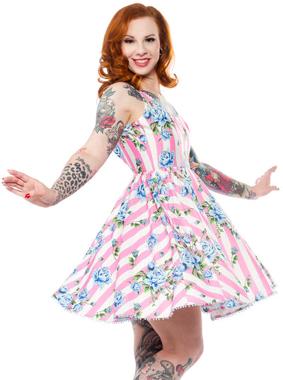 Women's Carousel Roses Sweets Dress by Sourpuss