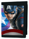 """Avengers: Captain America"" Wallet by Marvel (Blue) - www.inkedshop.com"