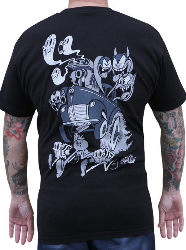 Men's Haunt Rod Tee by Lowbrow Art Company