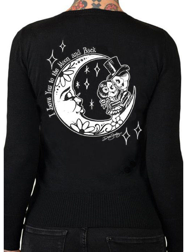 Women's To The Moon Cardigan by Pinky Star