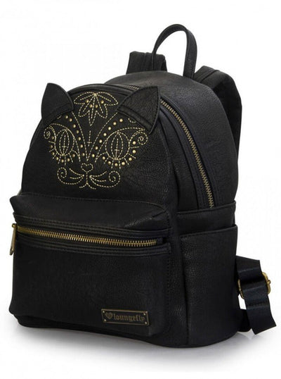 """Faux Leather Cat"" Mini Backpack by Loungefly (Black) - www.inkedshop.com"