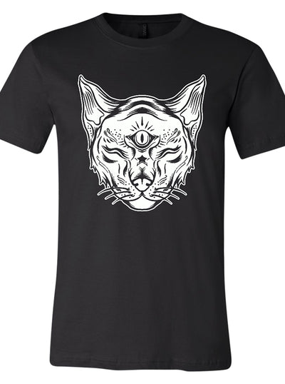 "Unisex ""Eye of the Cat"" Tee By RealRebel (Black)"