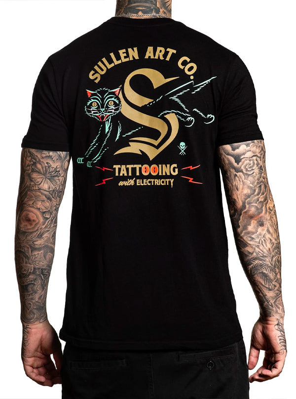 Men's Cat Electric Tee by Sullen