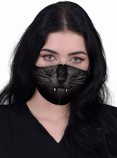 Cat Fangs Protective Face Mask by Spiral Usa