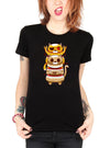 "Women's ""Cat Cut"" Tee By Skelly & Co (Black)"