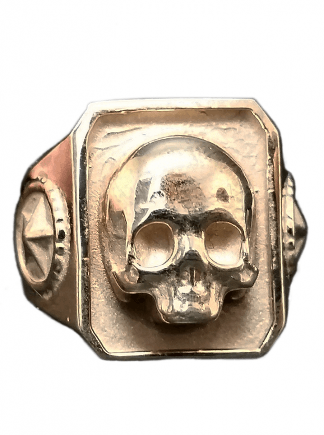 """Catacombs Skull"" Ring by Lor G Jewellery (Brass) - www.inkedshop.com"
