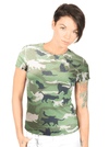 "Women's ""Catmouflage"" Cat Camo Sublimated Tee by Goodie Two Sleeves (Camo) - www.inkedshop.com"