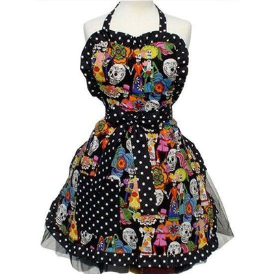 Catrinas and Skulls Apron by Hemet - InkedShop - 2