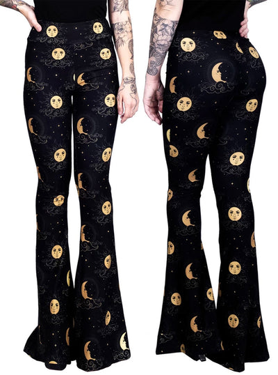 Women's Heavenly Celestial Bell Bottom Flares by Too Fast