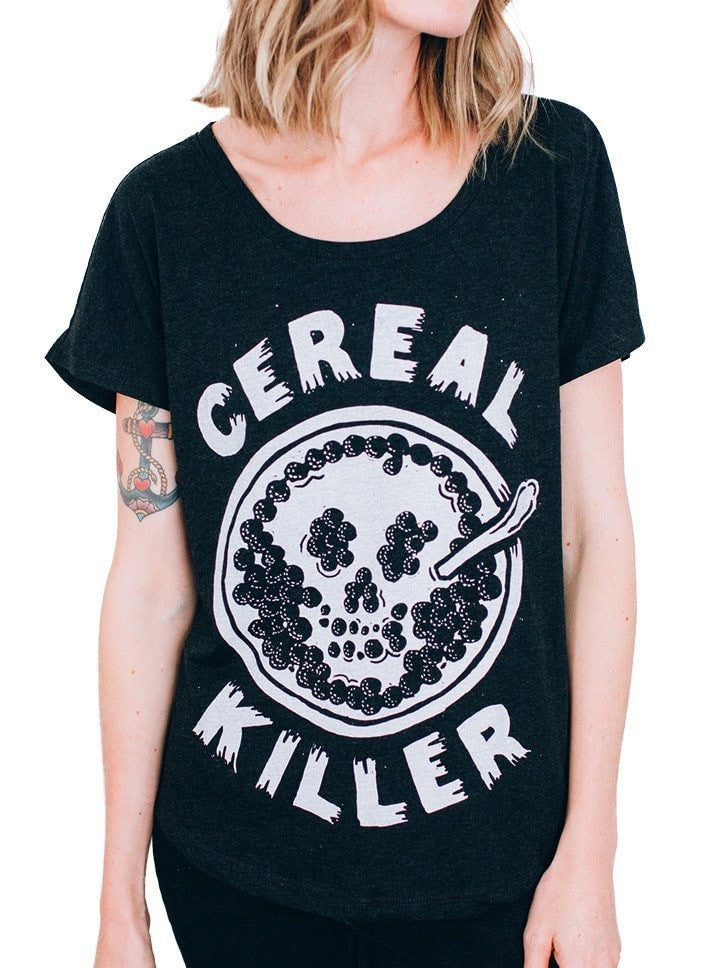 "Women's ""Cereal Killer"" Dolman Tee by Pyknic (Black) - www.inkedshop.com"