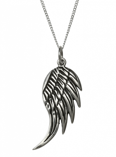 """Angel Wing"" Necklace by Femme Metale - www.inkedshop.com"
