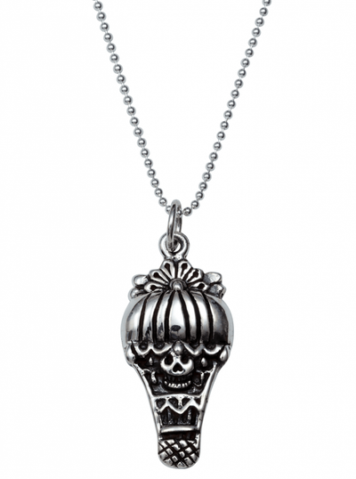 """Skully Balloon"" Necklace by Femme Metale - www.inkedshop.com"