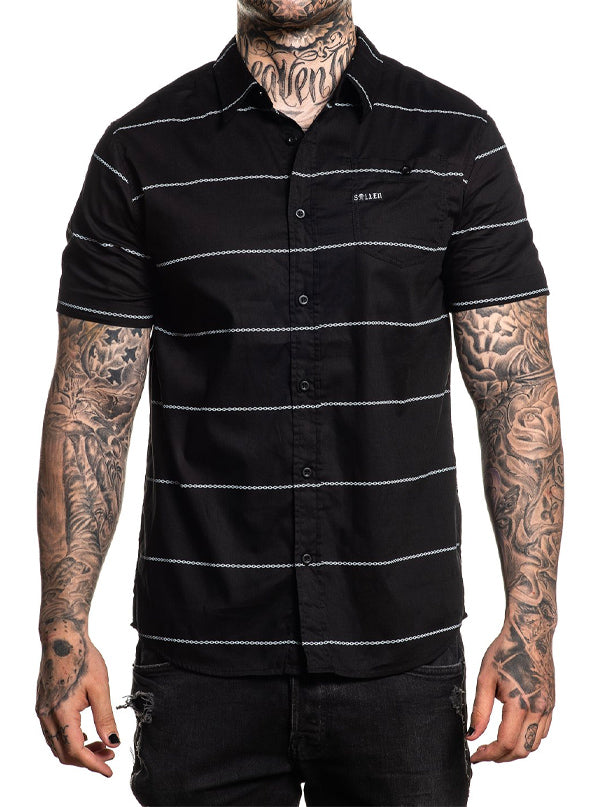 "Men's ""Chained"" Button Up by Sullen (Black)"