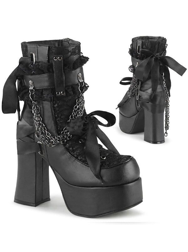 Women's Charade 110 Platform Ankle Boots by Demonia