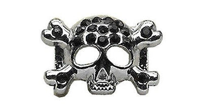 "3/8"" Skull Slider Charm Black - Pet Charm - MORE COLORS AVAILABLE - InkedShop - 1"