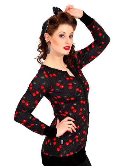 Women's Cherries Cardigan by Liquorbrand