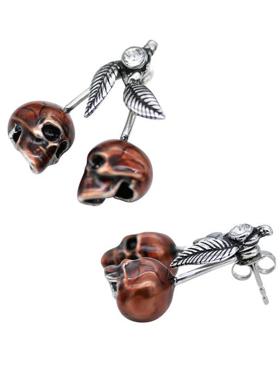 Cherry Skulls Necklace and Earrings by Controse