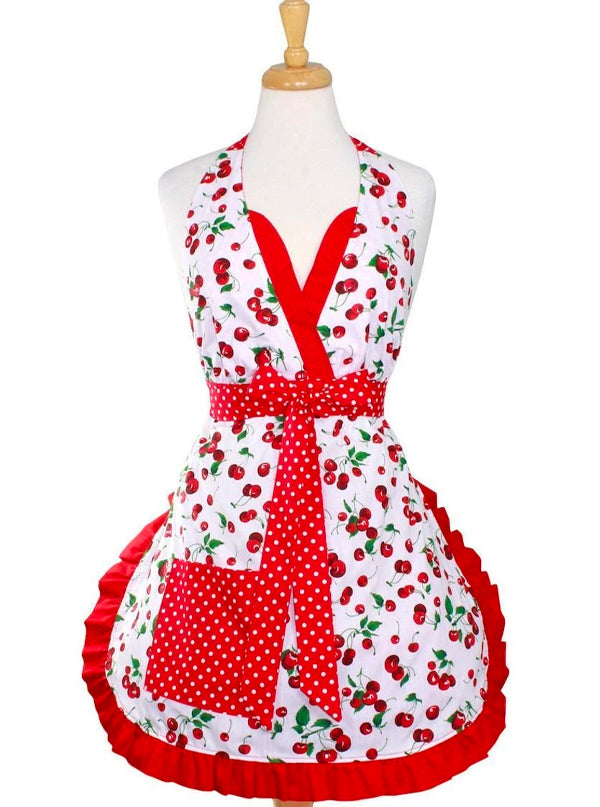 Cherry Pie Holiday Apron by Hemet