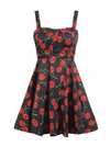 "Women's ""She's My Cherry Bomb"" Dress by Double Trouble Apparel (Black) - www.inkedshop.com"