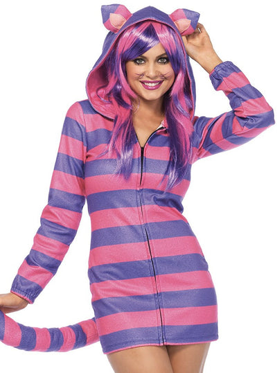 Women's Cozy Cheshire Cat Costume by Leg Avenue