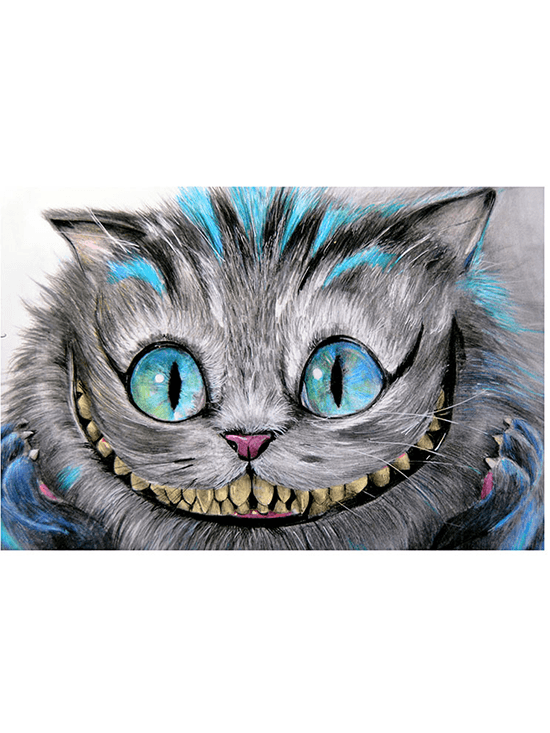 """Cheshire Cat"" Print by Manuela Lai for Lowbrow Art Company - www.inkedshop.com"