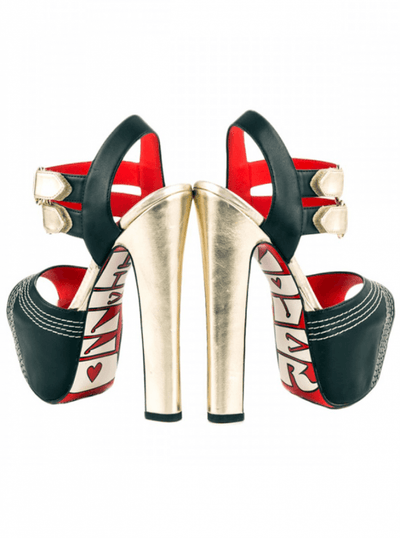 """Chevy"" Heels by Taylorsays (Black) - www.inkedshop.com"