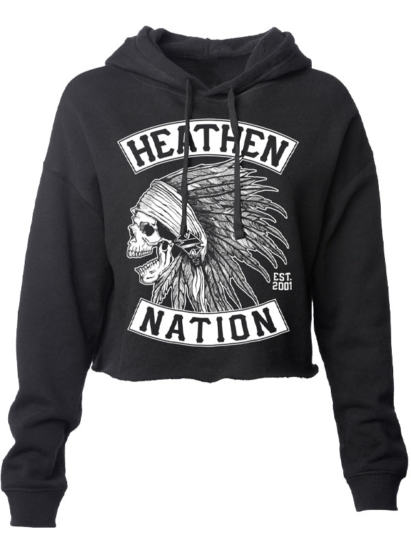 Women's Chief Crop Hoodie by Heathen