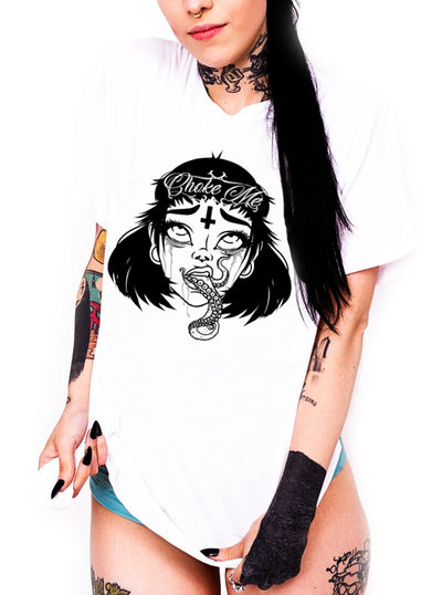 Women's Choke Me Tee by Lowbrow Art Company