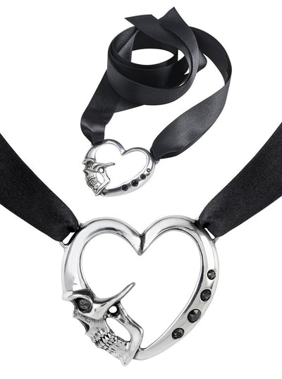 Etendu Mort De Coeur Choker by Alchemy of England (Pewter)