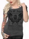 "Women's ""City of Angels"" Off The Shoulder Tee by Serpentine Clothing (Grey) - www.inkedshop.com"