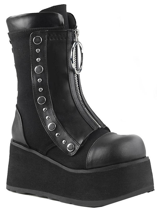 "Women's ""Clash 206"" Platform Boots by Demonia (Black)"