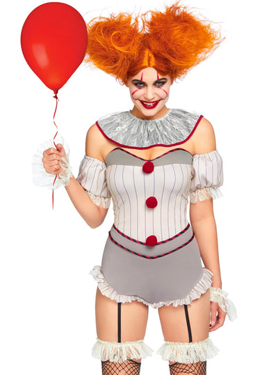 Women's Killer Sewer Clown Costume by Leg Avenue
