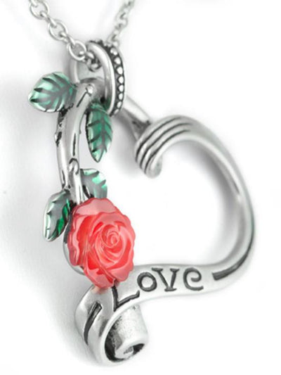 "Women's ""Garden Heart Elite"" Necklace by Controse (Silver) - www.inkedshop.com"