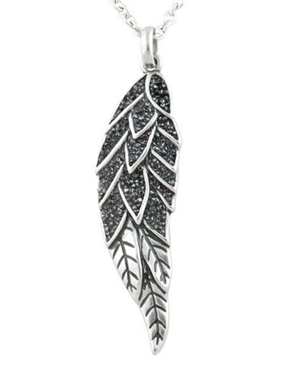 """Sparkling Angel Wing"" Necklace by Controse (Silver) - www.inkedshop.com"