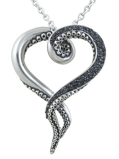 """Dark and Bright Tentacles"" Necklace by Controse (Silver) - www.inkedshop.com"