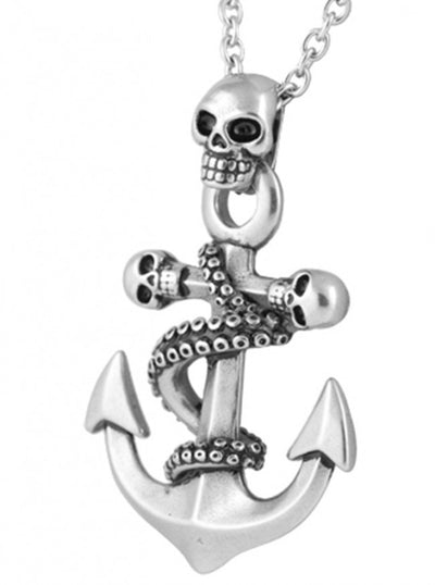 """Octo Skull Anchor"" Necklace by Controse (Silver) - www.inkedshop.com"