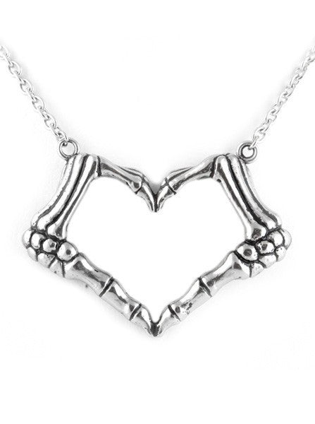 """I Heart U 2 Death"" Necklace by Controse (Silver) - www.inkedshop.com"