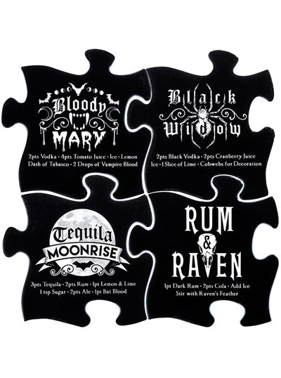 Gothic Cocktail Coaster Set by Alchemy of England