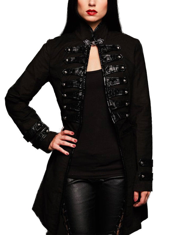"Women's ""Dark Glamour"" Victorian Steampunk Coat by Pretty Attitude Clothing (Black)"