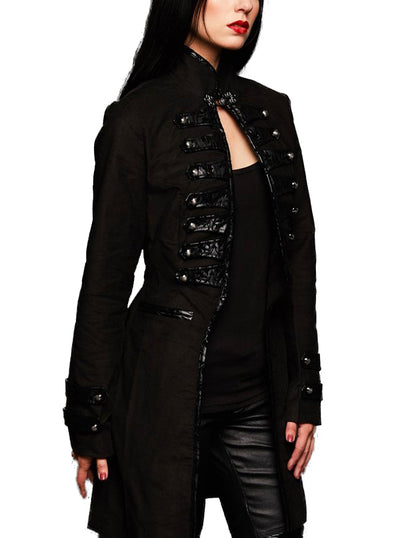 Women's Dark Glamour Victorian Steampunk Coat by Pretty Attitude Clothing