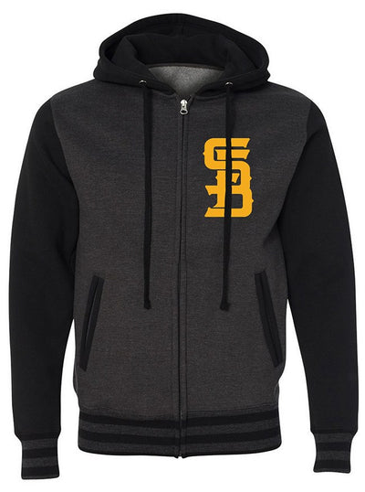 "Men's ""Cobra"" Zip-Up Hoodie by Steadfast Brand (Heather/Black) - www.inkedshop.com"